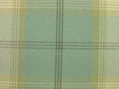 Balmoral Duck Egg Wool Effect Washable Thick Tartan Plaid Upholstery &…