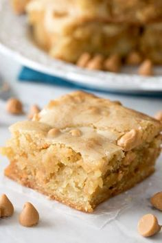 Blondies -- made w/o chocolate! -great spin off of classic brownies & take only minutes to mix together!