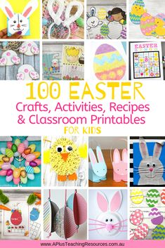 Looking For Fun Easter Activities For Kids {Printables, Crafts & Recipes}, then look no further, here's 100 EGGCELLENT ideas for your classroom! Easter Activities For Kids, Spring Activities, Easter Crafts For Kids, Fun Activities, Easter Ideas, Classroom Crafts, Classroom Resources, Teaching Resources, Easter Colouring
