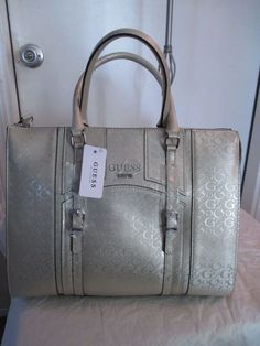 68a633720f New Handbag Guess Satchel Color Pale Gold Style Group Leisure with Tags