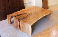 Urban Hardwoods Furniture - Seattle, maple slab coffee table. This place is worth a personal visit. If you are ever in Seattle, check them out. I almost walked out with my wallet significantly lighter