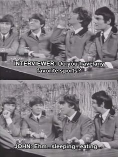 When John was very, very relatable. | 17 Times The Beatles Were Actually Hilarious