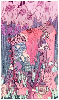 Colorful and Detailed Illustrations by Kirsten Rothbart Anime Art Fantasy, Fantasy Kunst, Art And Illustration, Grafik Design, Aesthetic Art, Psychedelic Art, Love Art, Pastel Art, Art Inspo