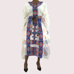 Ethiopian Dress, Short Length, Traditional Handmade embroidered Habesha Clothes by EthiopianDressShop on Etsy Ethiopian Traditional Dress, Traditional Dresses, Ethiopian Dress, Amazing Things, Short Dresses, Kimono Top, Arm, Africa, Formal