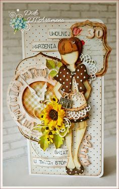 I'd been stumped as to what to do with my die cuts.....good example here!