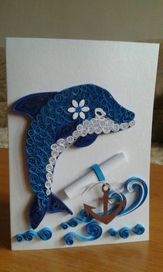 Card with dolphin