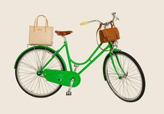 The Kate Spade kelly green bike inspired by 1960's Woman's Day ad is so cute, it makes me want to change my whole life and move to a city where biking is cool, like Portland or beautiful, like Bali, in the movie, Eat, Pray, Love.
