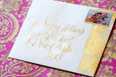 Gilt envelope
