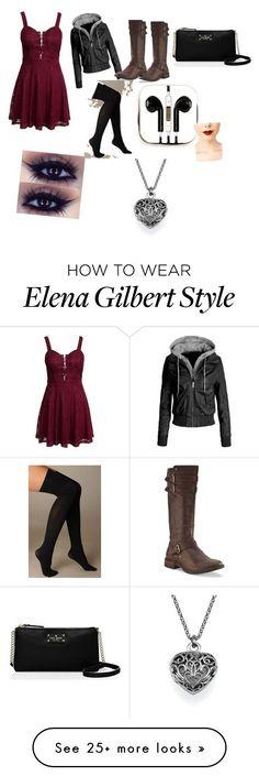 Old Elena Gilbert Inspired by brebre2003 on Polyvore featuring moda, New Look, UGG Australia, Hue, Kate Spade, PhunkeeTree e Jeffree Star