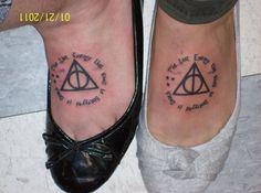 Harry Potter foot tattoo.