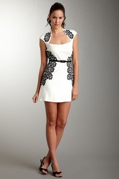 Laundry by Shelli Segal Solid Belted Ponte Dress