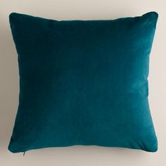 One of my favorite discoveries at WorldMarket.com: Teal Velvet Throw Pillows