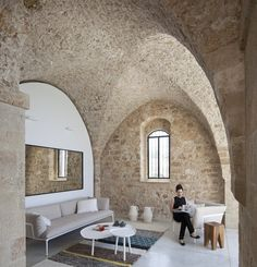 Medieval Style Stone Room: (possible pool house, garage design, or walkout basement entertainment room)