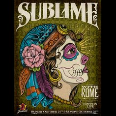 Sublime with Rome, Gig Poster - Band Job - Music Art & Awesome Design