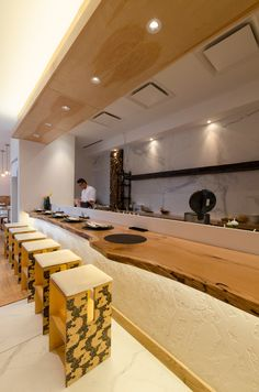 Sumi Robata - Chicago, IL. Recessed Cans by Contrast Lighting. Soft Strip by Edge Lighting