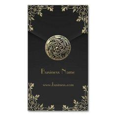 Profile Card Business Sepia Black Velvet Business Card
