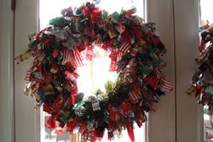 LisaKramerArtLifestyle: Today I made two wire and fabric Christmas Wreaths