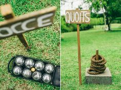 great idea to keep guests entertained while bridal party photos are happening!