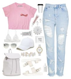"""""""All we got"""" by jackiemcgrath ❤ liked on Polyvore featuring Skagen, Aéropostale, Humble Chic, Topshop, Sole Society, Ray-Ban, Monki, NYX, MILK MAKEUP and Fresh"""