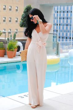 Blush Jumpsuit - Gal About Town