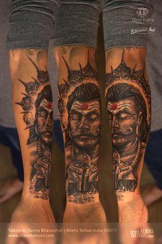 Ravana Tattoo by Sunny Bhanushali at Aliens Tattoo India.