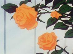 Orange Aesthetic, Aesthetic Gif, Flower Aesthetic, Anime Gifs, Anime Art, Orange Roses, Yellow Flowers, Red Roses, Photo Trop Belle