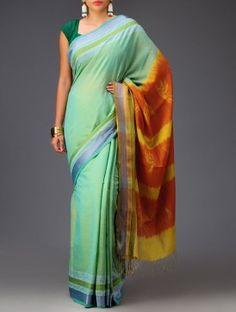 Bird Shibori Cotton-Silk Saree Cotton Silk, Shibori, Silk Sarees, Sari, Stuff To Buy, Fashion, Saree, Moda, Fashion Styles
