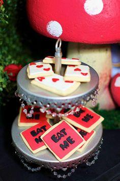 2b1297b35144 Isa s 6 birthday tea party ideas - Midnight Alice in Wonderland Tea Party    Cookies