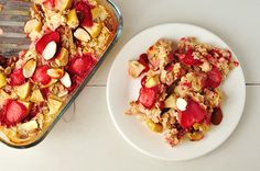 Change up your morning oatmeal with the fruit and nut option!