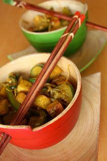 Curry au tofu à l'indienne ~ Les doigts collants