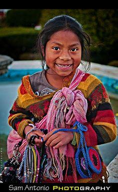 Maya girl in San Cristobal de las Casa, Mexico.