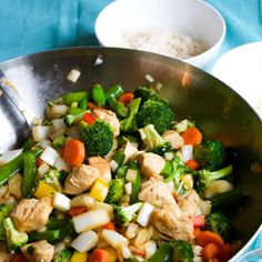 This healthy chicken stir-fry recipe is the perfect dish that taste like Chinese take-out without the added MSG or preservatives!