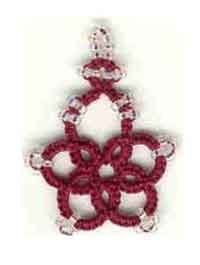 Beaded Snowflake Earring