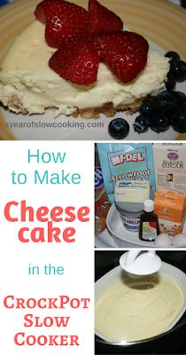 Stephanie O'Dea cheesecake recipe in crockpot slow cooker