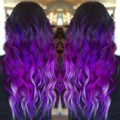"""SHOUTOUT SUNDAY  Gorgeous multi tonal purple colormelt done by @stephaniekoontzhair Thanks for tagging #unicorntribe #modernsalon #americansalon…"""