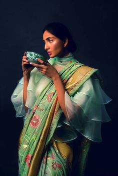Singhanias blouse! Surreal picture.