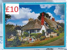 English Cottages Jigsaw 1,000 piece puzzle featuring english cottages on a bright day. Size H49 x W68.5cm. COLLECTION/DELIVERY FROM ABERDEEN OR DIRECT DISPATCH VIA PAYPAL/CARD PAYMENT (£3.95 delivery) PM/COMMENT FOR DETAILS.