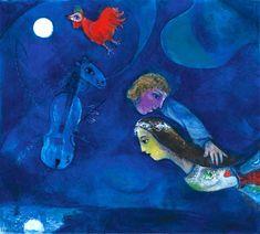 Marc Chagall – Coq Rouge Dans La Nuit, 1944