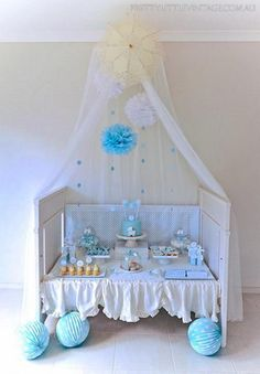 """Adorable """"shower"""" themed baby shower for boy"""