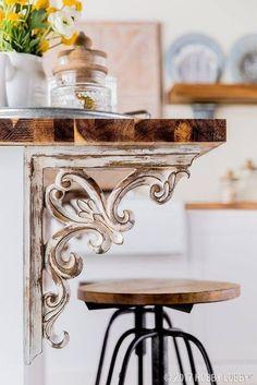 Victorian Corbel Ideas for Kitchen Islands #farmhousedecorlighting Rustic Decor - Modern Farmhouse Interior