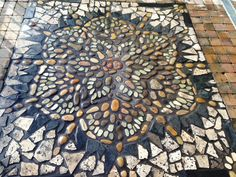 Nice to make a mosaic ine the garden. ..