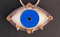 Evil Eye Necklace - Aqua Blue