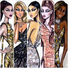 Hayden Williams Fashion Illustrations: Red Carpet Glam by Hayden Williams