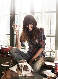 "Saturday | ""snaps of songstress Lou Doillon by Garance Doré for Free People"""