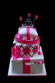 Topsy Turvy Gift boxes Cake