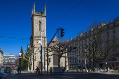 The Church of Holly Trinity in Geneva Switzerland. Geneva Switzerland, Photo L, Travel, Switzerland, Scenery, Viajes, Trips, Traveling, Tourism