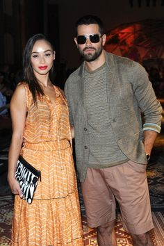 Cara Santana and Jesse Metcalfe wearing Missoni while attending Missoni Men's Summer 2015 Fashion Show
