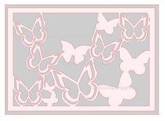 Fichier découpe Silhouette Caméo Portrait  Gratuit Free Silhouette files Carte papillon Carte originale