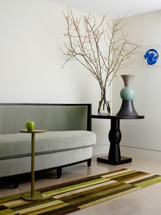 richard mishaan: table by Christian Liagre, sofa by Andree Putman