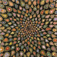 """Fred Tomaselli: """"Daturation"""", 1998 - Leaves, photo collage, acrylic & resin on wood"""